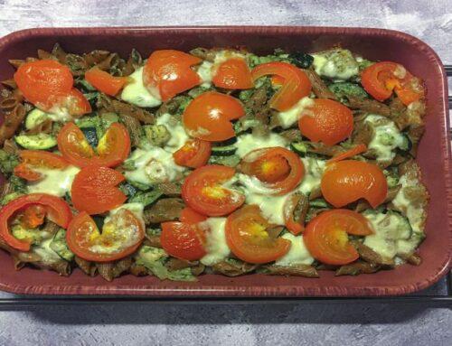 Pasta pesto ovenschotel