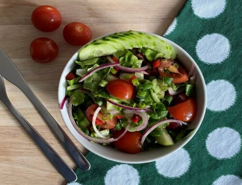 Salade met kidneybonen (vegan)